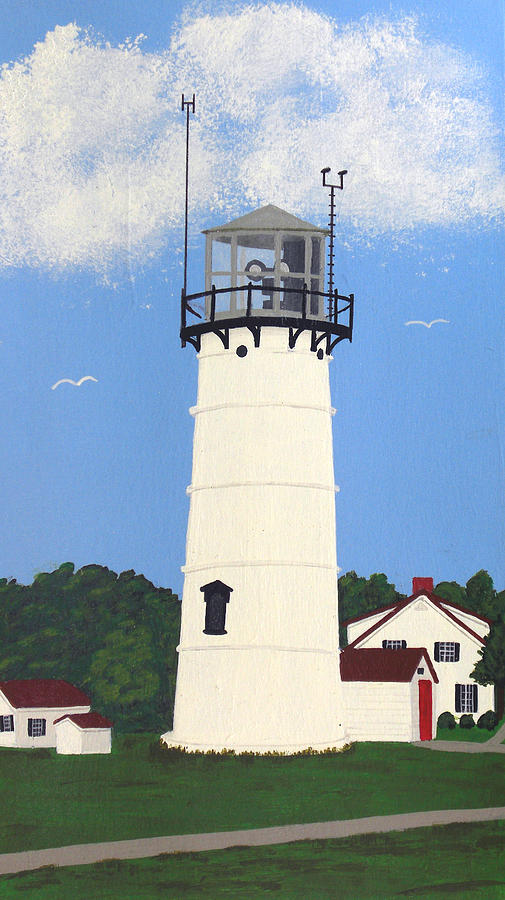 Lighthouse Painting - Chatham Lighthouse Tower by Frederic Kohli
