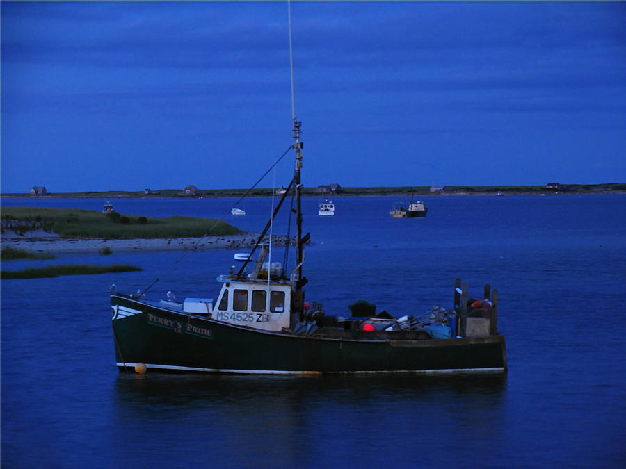 Marina Photograph - Chatham Pier Fisherman Boat  by Juergen Roth
