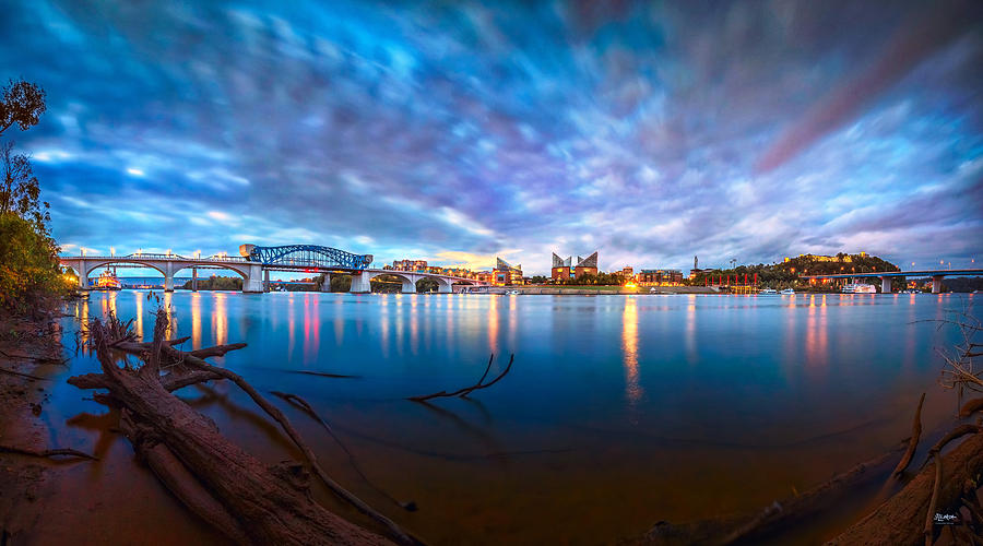 Chattanooga Photograph - Chattanooga Riverfront At Dawn  by Steven Llorca