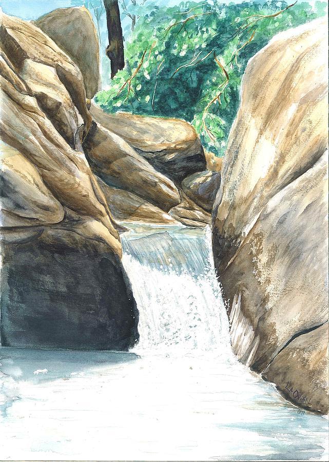 Water Painting - Chau-ram by Lane Owen