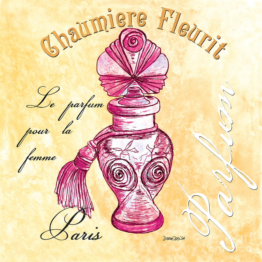 Perfume Painting - Chaumiere Fleurit by Debbie DeWitt