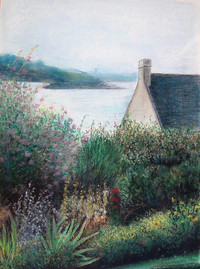 Landscape Painting - Chausey by Muriel Dolemieux