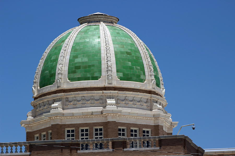New Mexico Photograph - Chaves County Courthouse Green Terracotta Dome by Colleen Cornelius