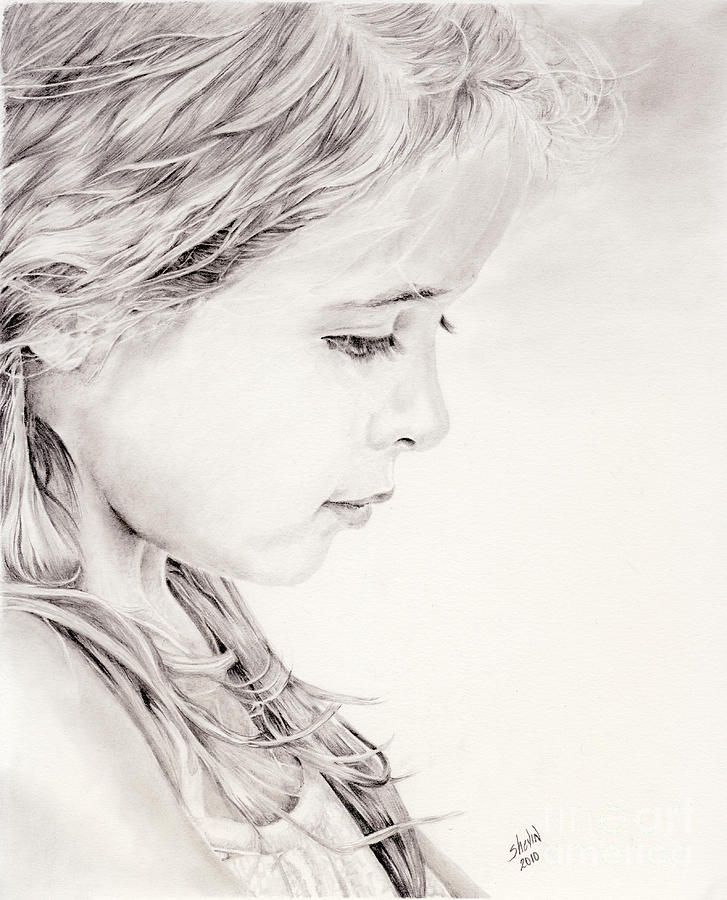 Portrait Drawing - Chavonne by Shevin Childers