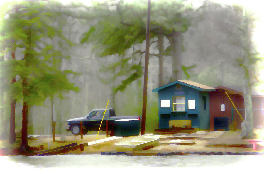 Truck Painting - Cheaha Lake by Lanjee Chee