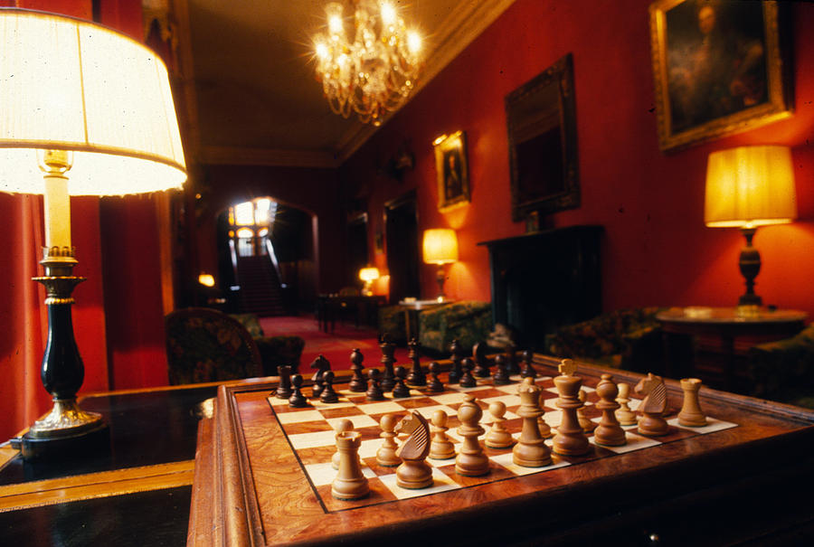 Chess Board Photograph - Check Mate At Dromoland by Carl Purcell