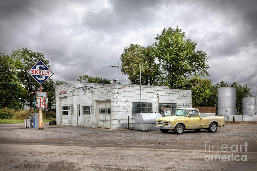 Driving Photograph - Check Your Oil? by Larry Braun