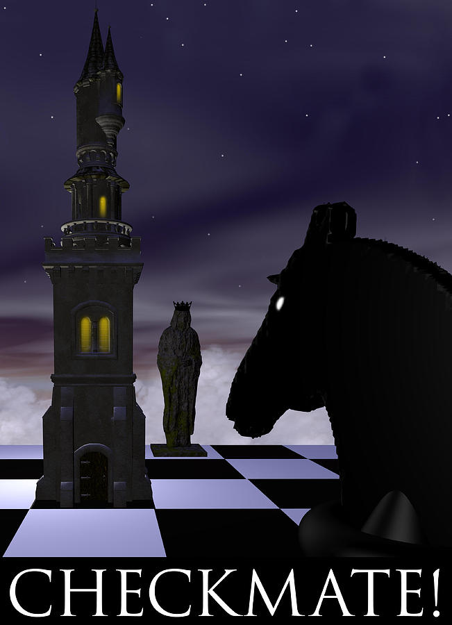 Abstract Digital Art - Checkmate by David Griffith