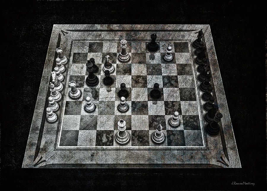 Checkmate Digital Art - Checkmate In One Move by Ramon Martinez