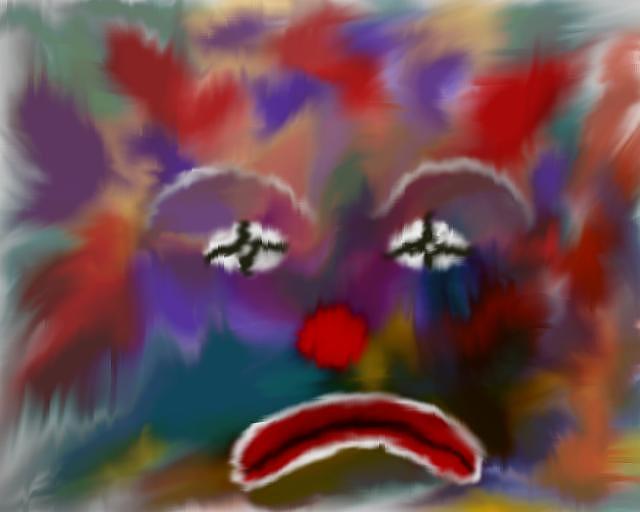 Clown Digital Art - Cheer Me Up by June Pressly