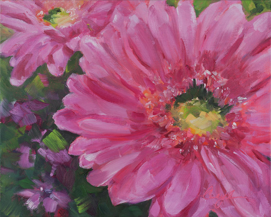 Painting Painting - Cheerful Blush by Caryl Pomales