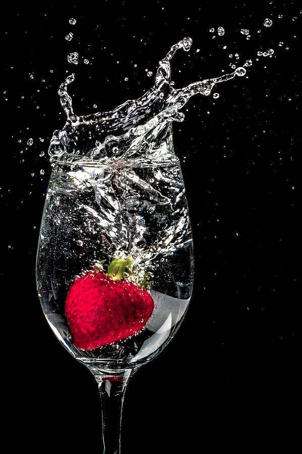Strawberry Photograph - Cheers 2 You by TC Morgan