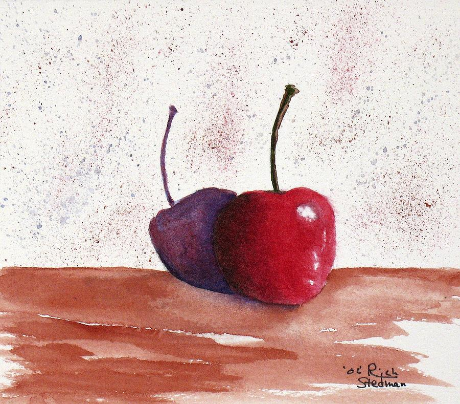 Food And Beverage Painting - Cheery Cherry by Rich Stedman