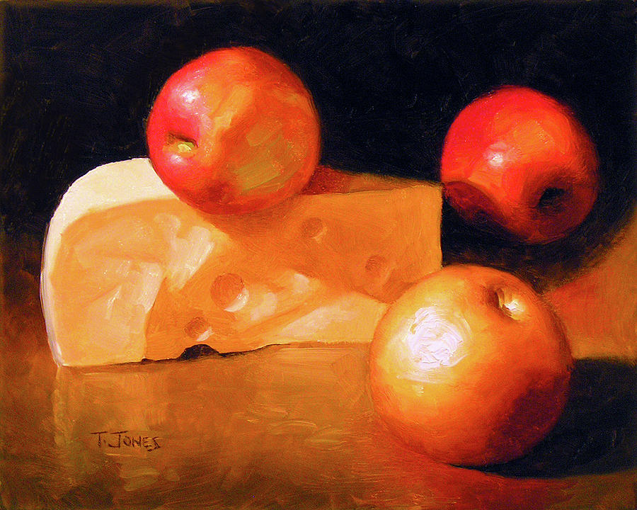 Cheese Painting - Cheese And Apples by Timothy Jones