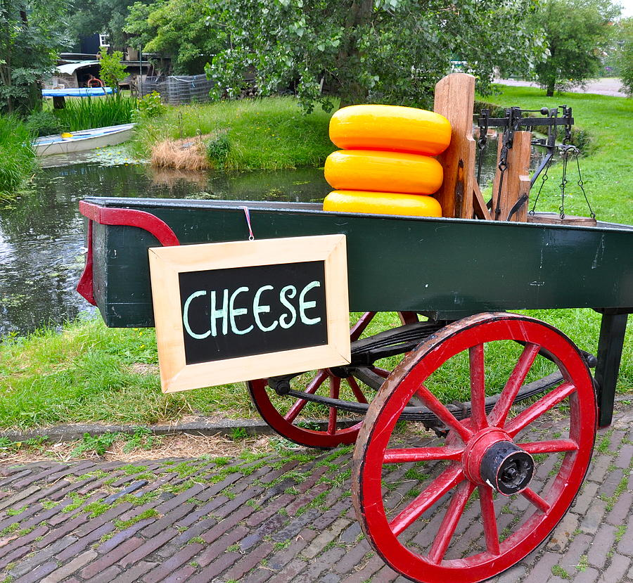 Cheese Photograph - Cheese on a Wagon by Caroline Reyes-Loughrey