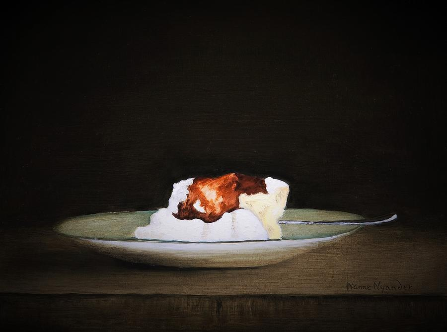 Cheesecake Painting - Cheesecake by Nanne Nyander