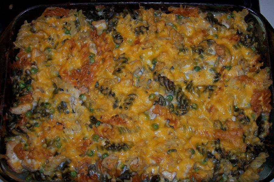 Noodles Photograph - Cheesey Chicken Noodle Casserole by Jessica Sanders