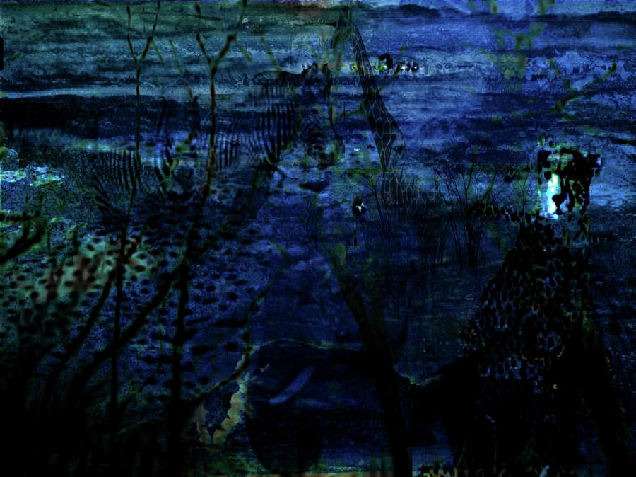 Cheetah Digital Art - Cheetah Blue by Carole Guillen