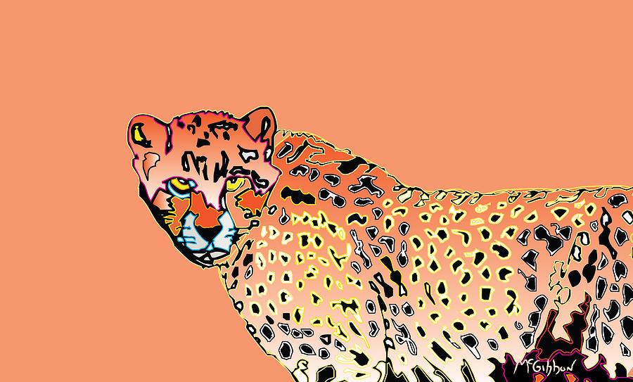 Cheetah Digital Art - Cheetah by Dan McGibbon