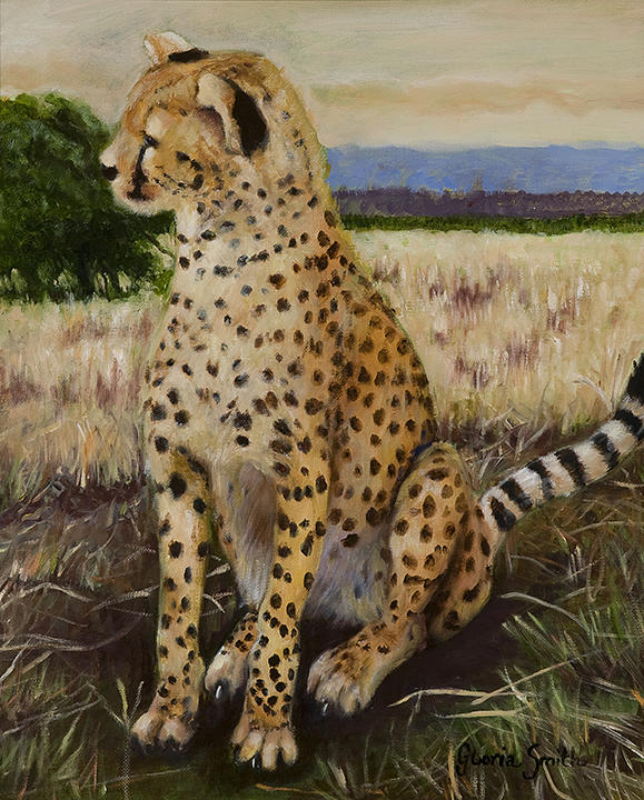 Wildlife Painting - Cheetah by Gloria Smith