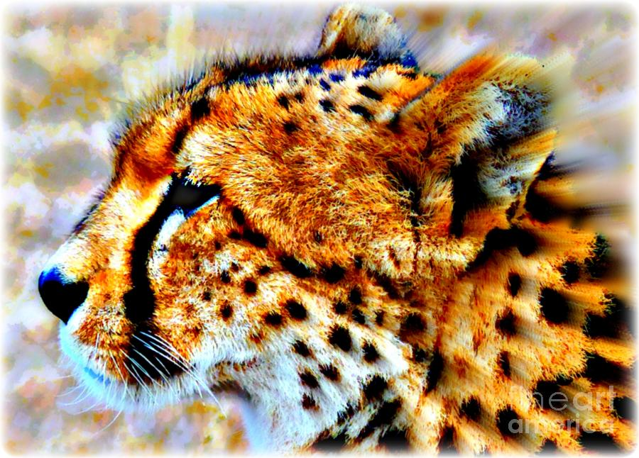 Big Cats Painting - Cheetah IIi by Wbk