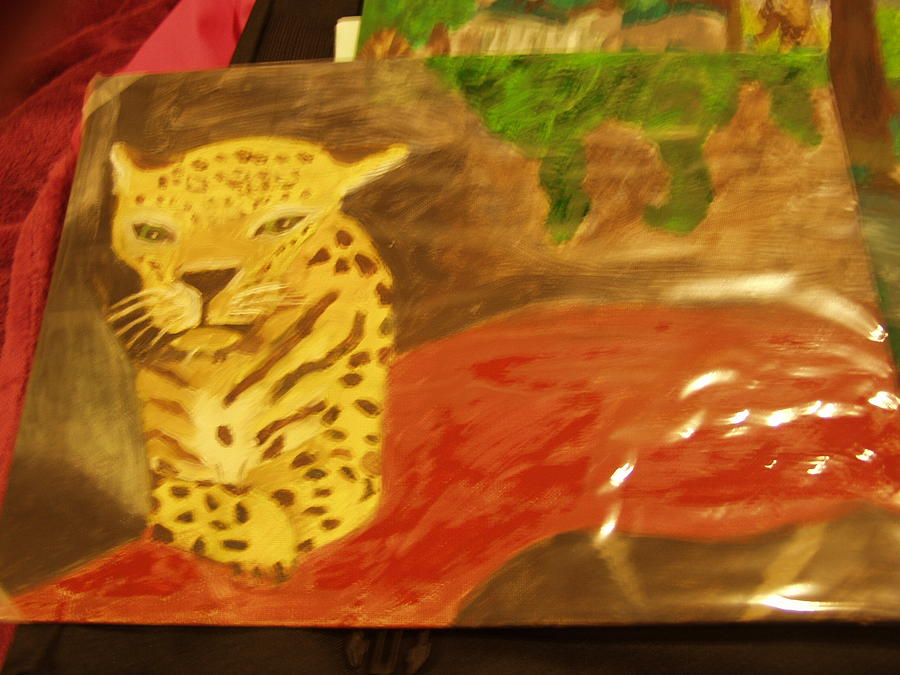 Cheetah Painting by Samantha Overstreet
