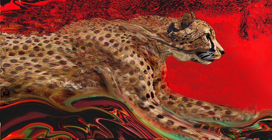Wild Painting - Cheetah1 by Martin Hardy
