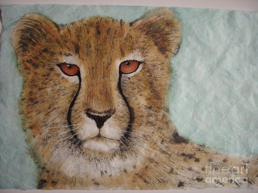 Cheetah Painting - Cheetah2 by Jian Hua Li
