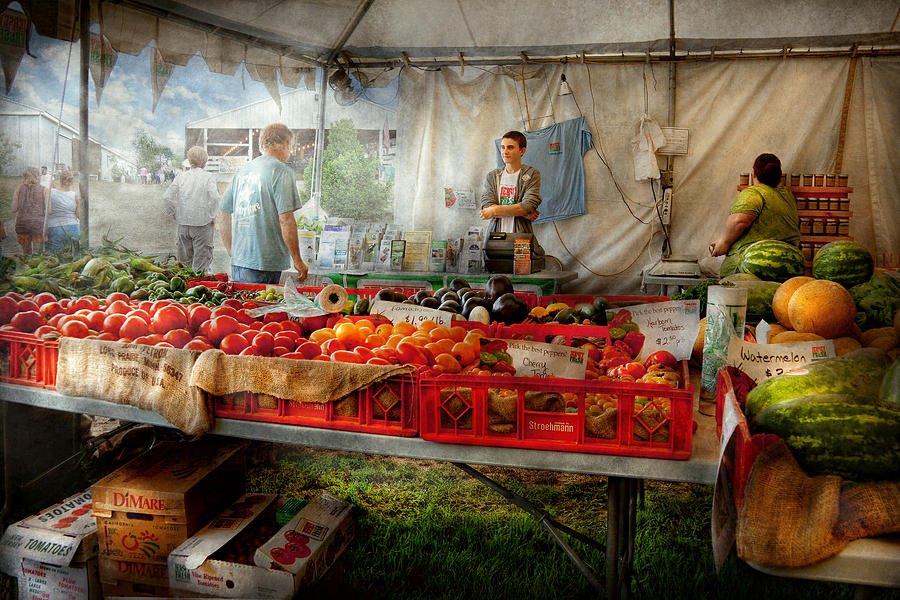 Chef Photograph - Chef - Vegetable - Jersey Fresh Farmers Market by Mike Savad