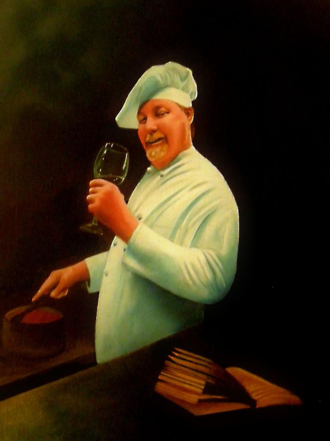 Chef Painting - Chef Charlie Webb by Jon Paul Price