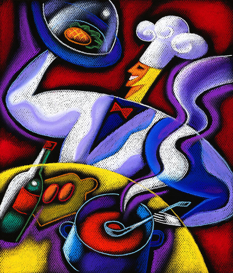 Chef Painting by Leon Zernitsky