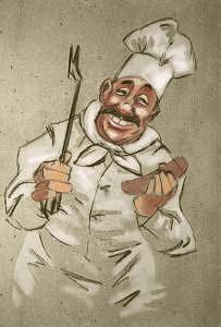 Chef Digital Art - Chef by Zee Risek