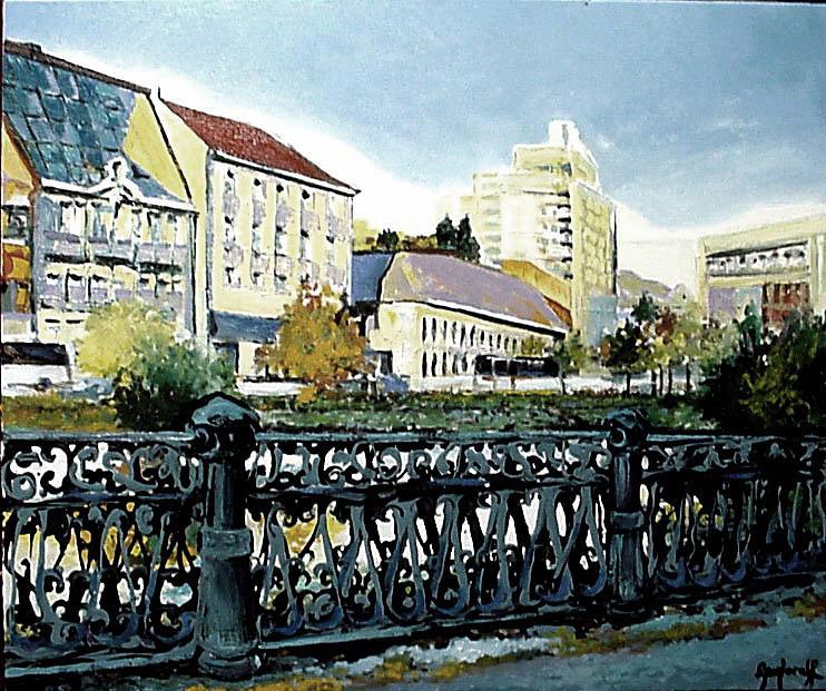 Original Painting - Cheiul Dambovitei Bucuresti by Luminita Feodoroff