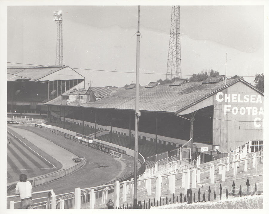 Chelsea Photograph - Chelsea - Stamford Bridge - East Stand 2 - August 1969 by Legendary Football Grounds