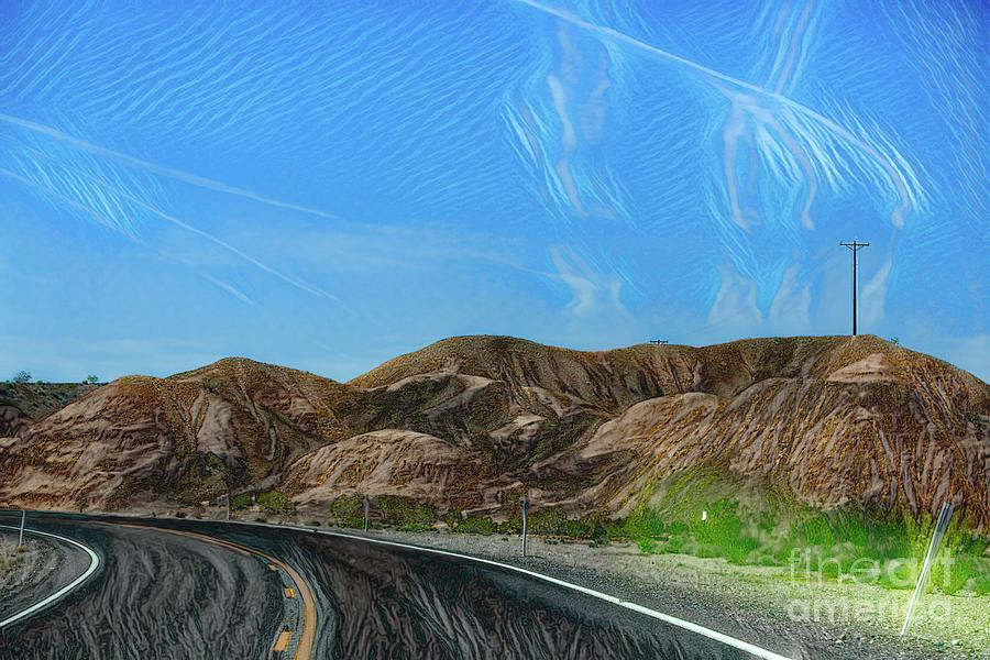 Valley Of Fire Photograph - Chem Trails Valley Of Fire  by Chuck Kuhn