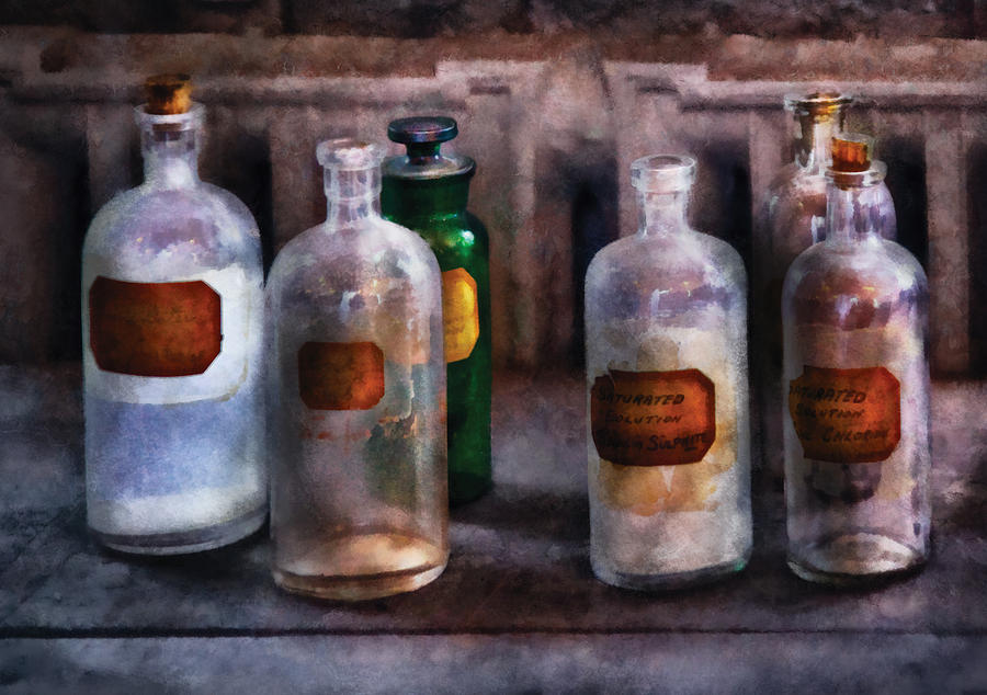 Savad Photograph - Chemistry - Saturated Solutions by Mike Savad