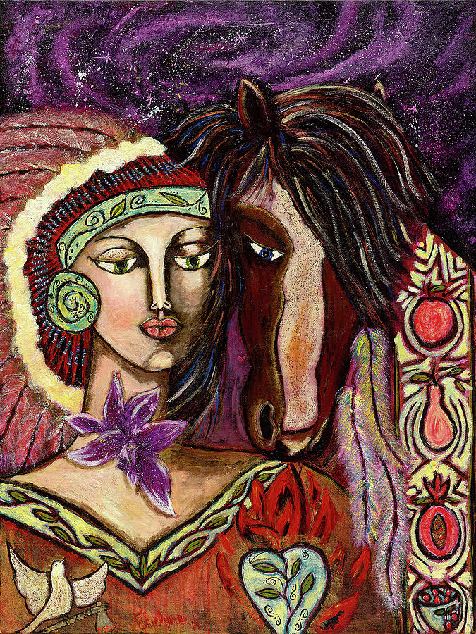 Horse Painting - Chenoa by Evelyne Verret