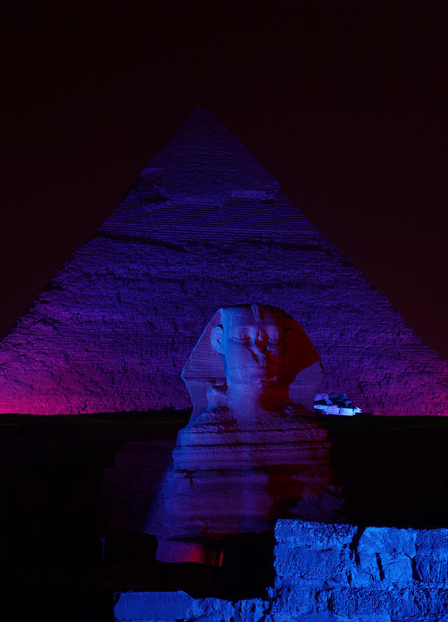 Pyramid Photograph - Cheops In Blue by Donna Corless
