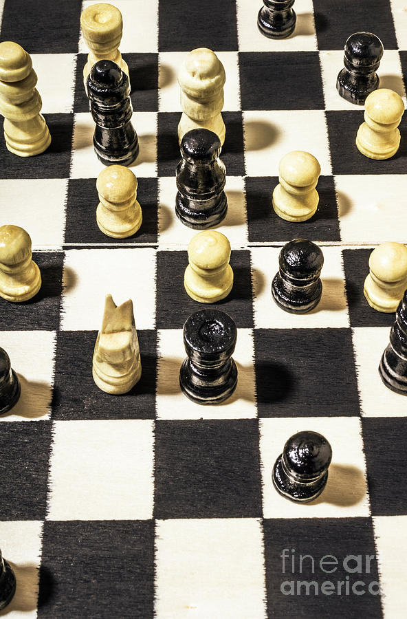 Game Photograph - Chequered Strategic Battle by Jorgo Photography - Wall Art Gallery
