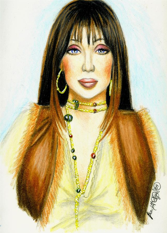 Woman Drawing - Cher by Scarlett Royal