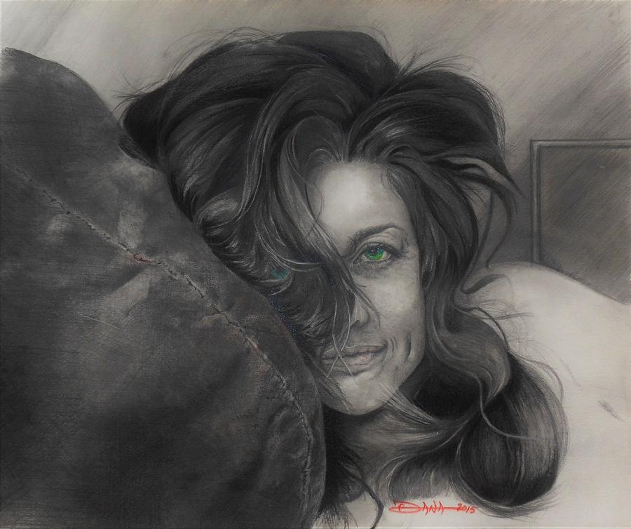 Portraits Drawing - Cherie by Dana Newman