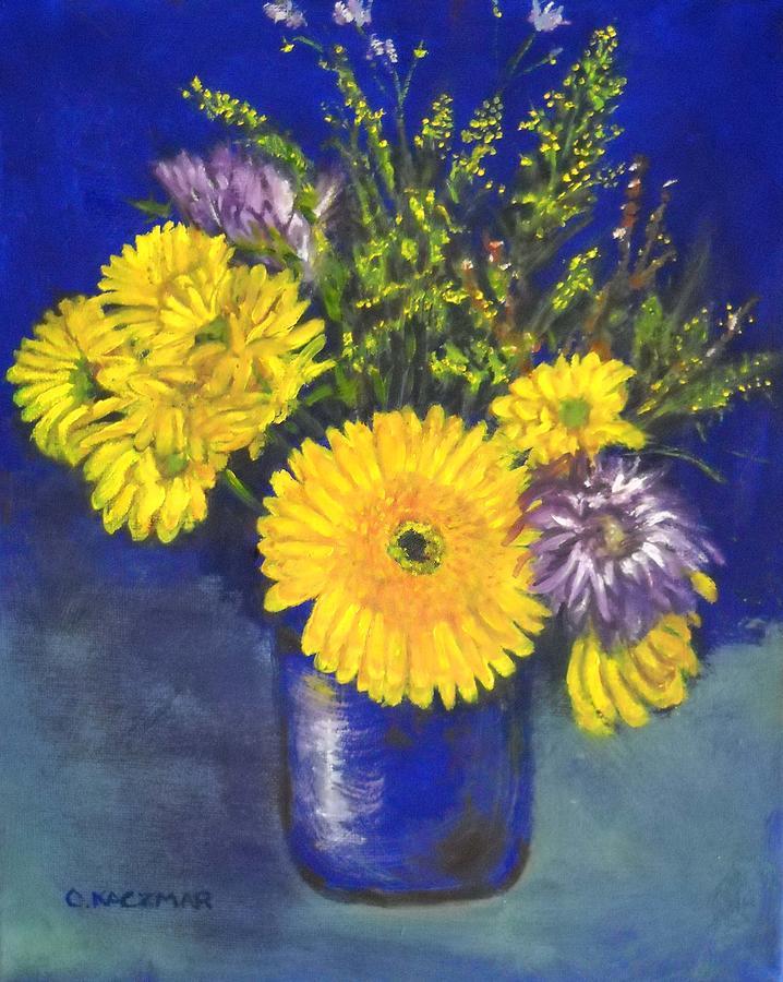 Flower Still Life Painting - Cheris Flowers by Olga Kaczmar