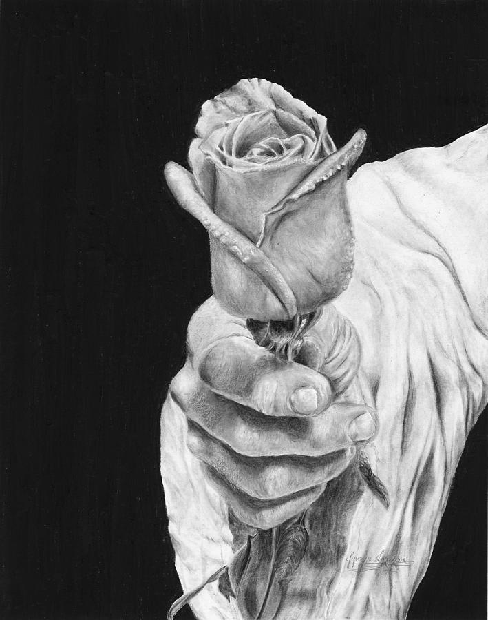 Cherished Drawing - Cherished by Jyvonne Inman