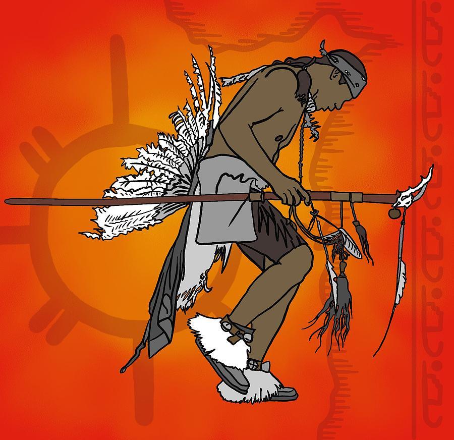 Dance Digital Art - Cherokee 1 by M Blaze Wolenski