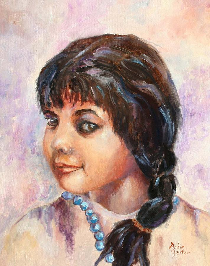 Native American Painting - Cherokee Princess by Audie Yenter