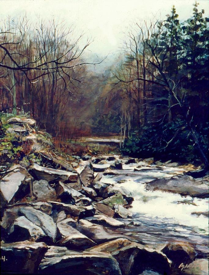 Landscape Painting - Cherokee Stream by William  Brody