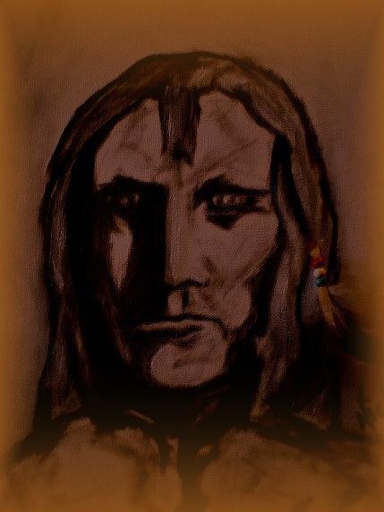 Cherokee Warrior Painting by Nick Stevens