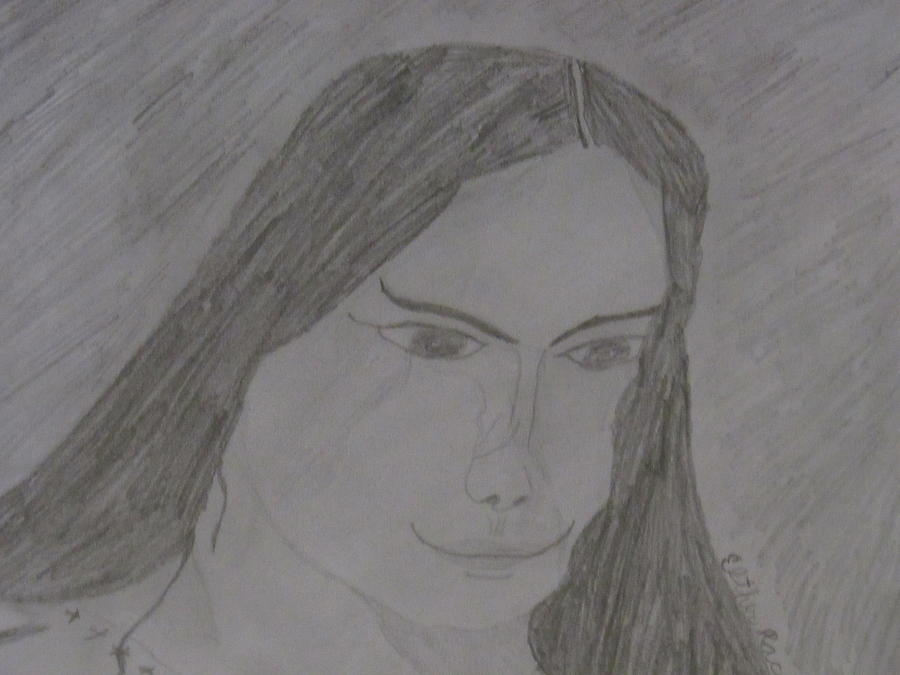 Cherokee Woman Drawing - Cherokee Woman by Esther Race