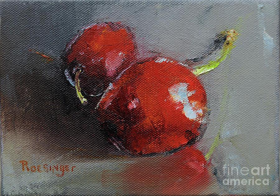 Cherries Painting - Cherries by Paint Box Studio