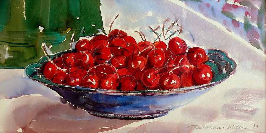 Still Life Painting - Cherries by Doranne Alden